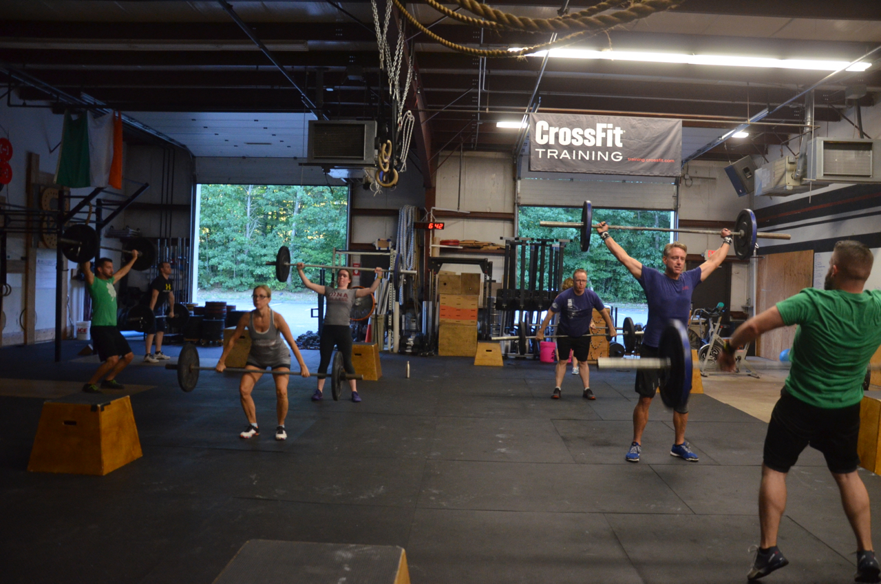 The 6pm class starting their AMRAP.