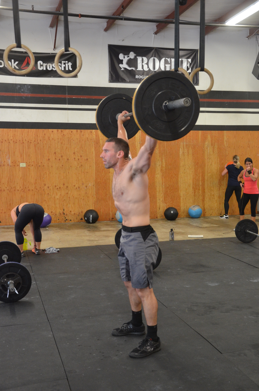 Kevan looking strong on his power snatch.