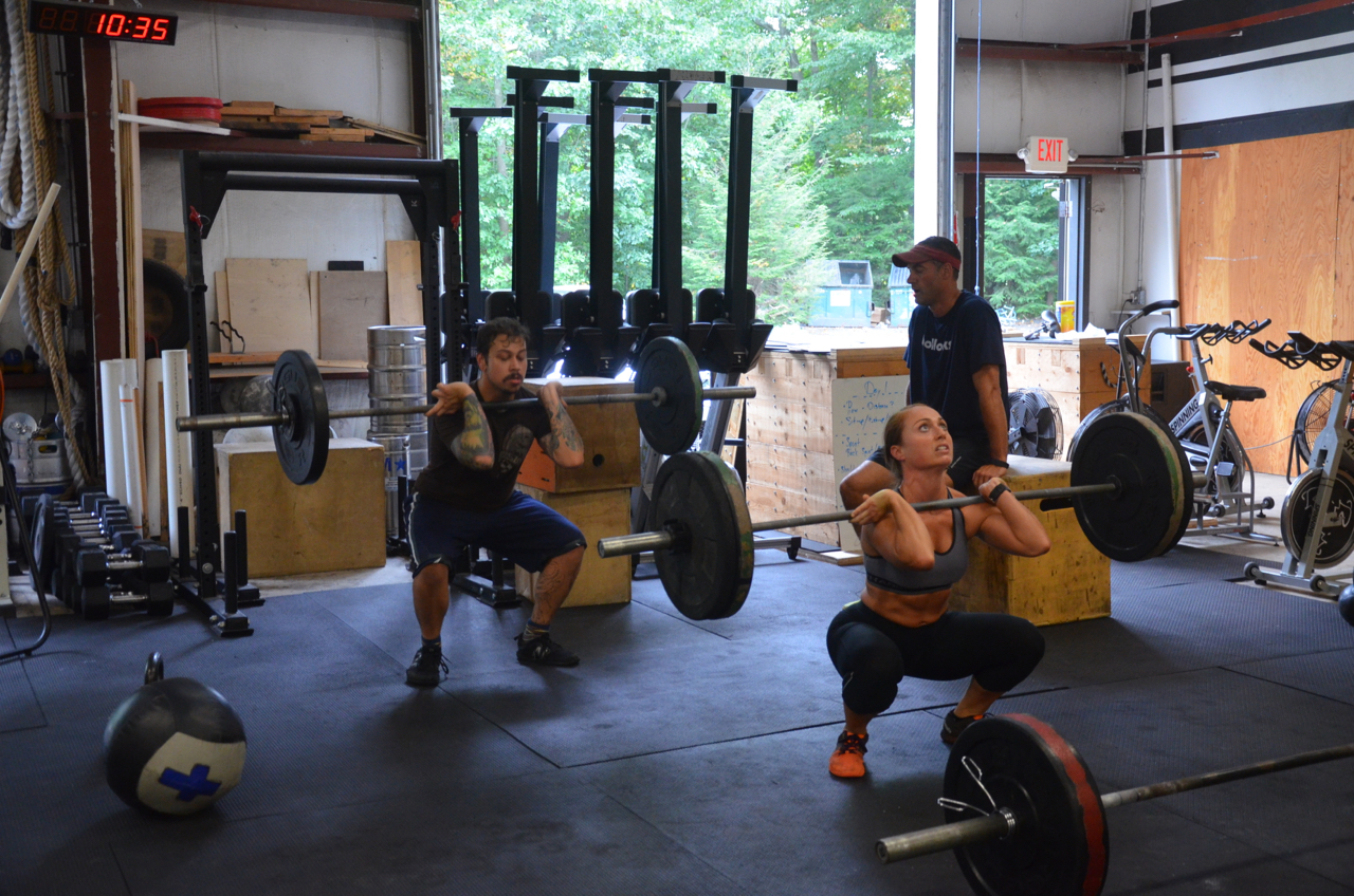 Rick & Cardella finishing up their front squats.