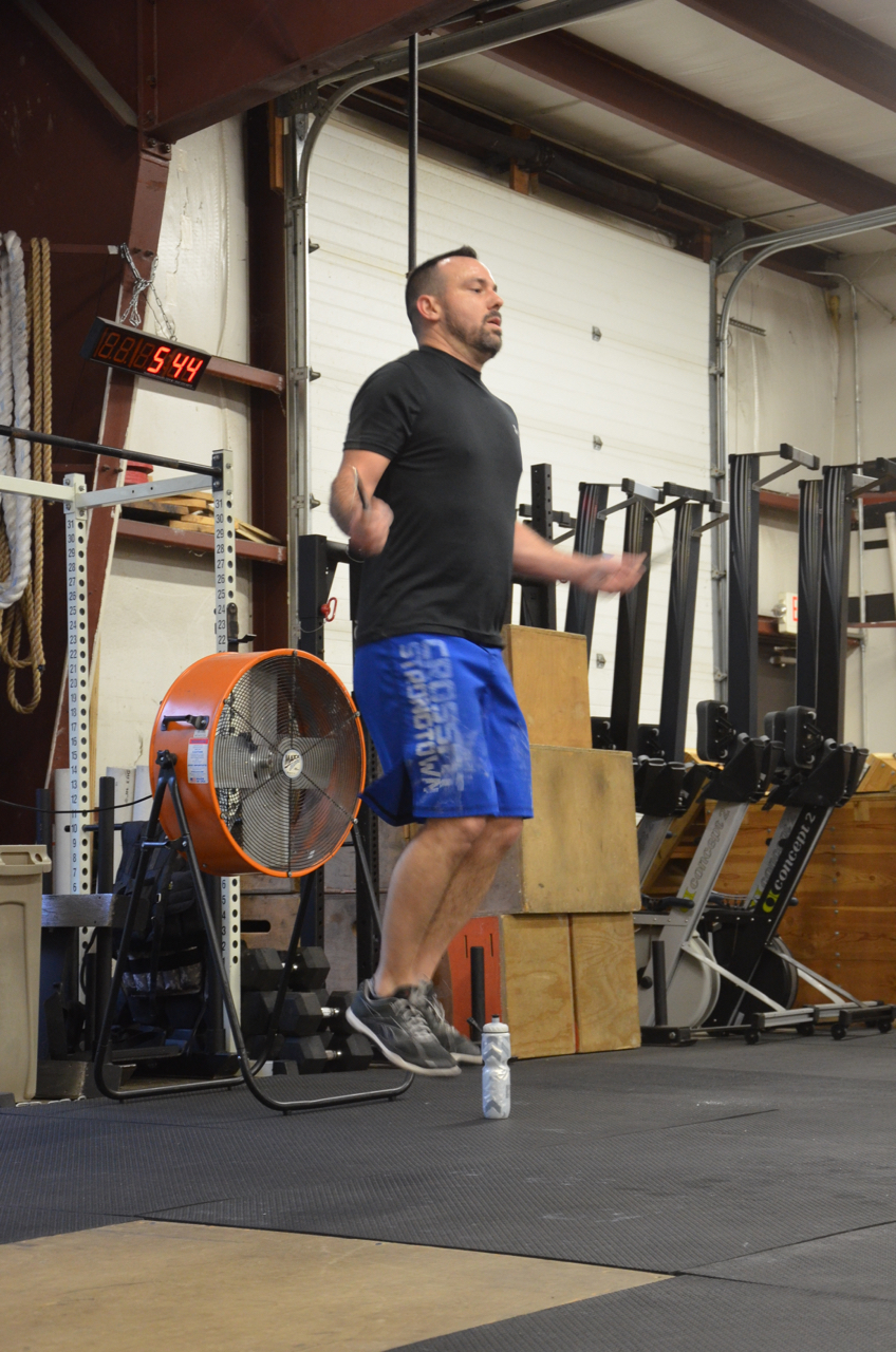 Tommy floating through his double-unders.