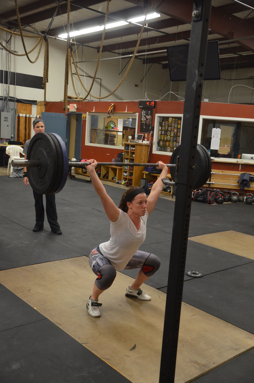 Jess showing great form on her squats.