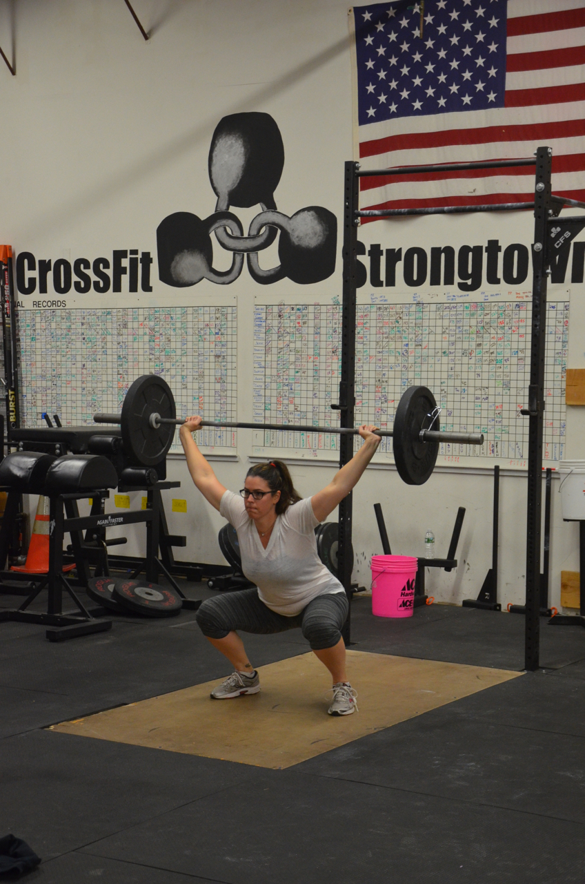 Megan looking strong through her set of 20 reps.