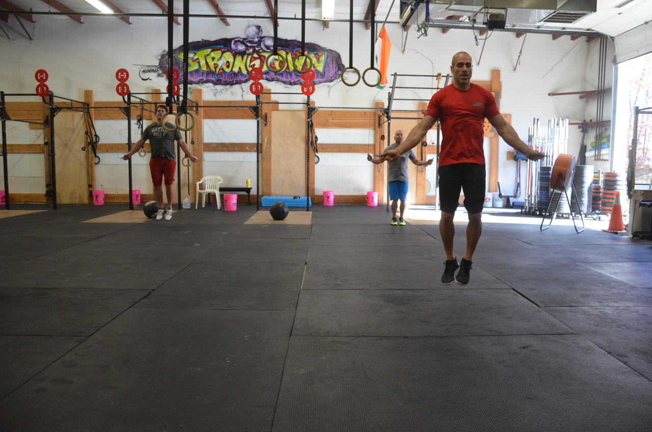 Lou and Friday's noon class flying through their double-unders.