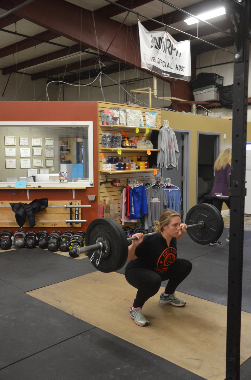 Sarah looking solid on her back squats.
