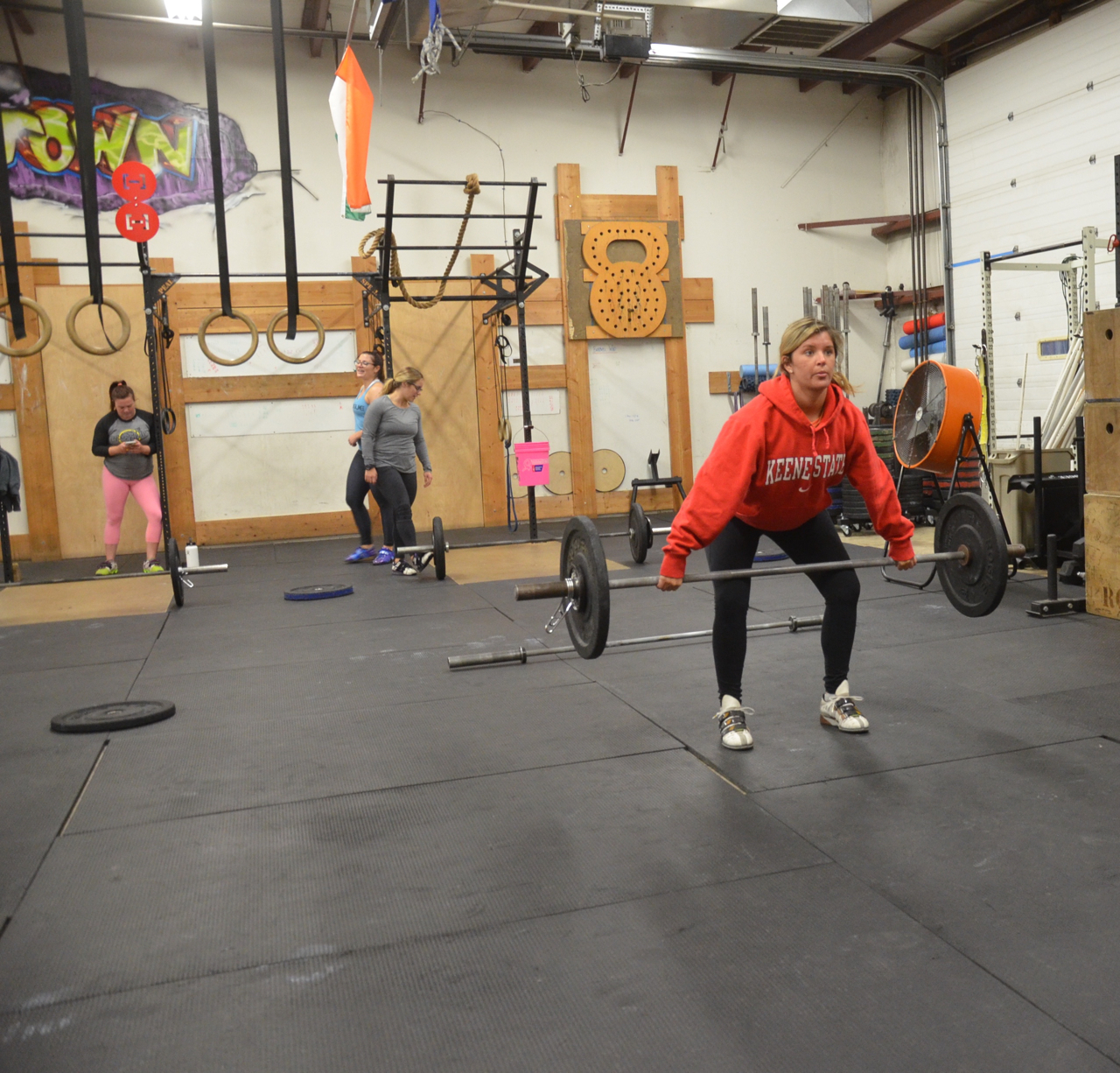 Welcome back Sarah & Tots to the real world (in a gym).
