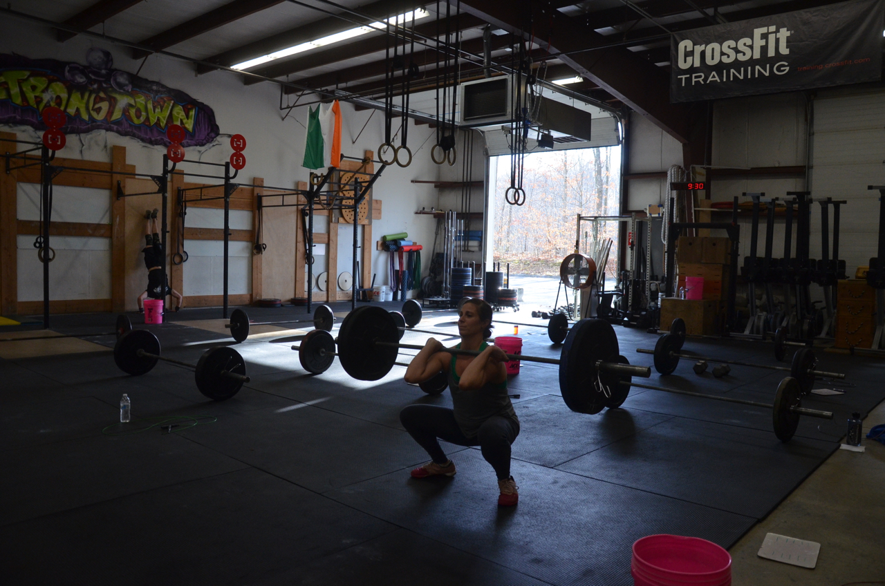 Gail getting deep in her front squats after.