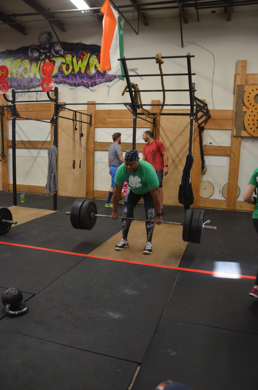 Big Mike showing good form on his Romanian Deadlifts.