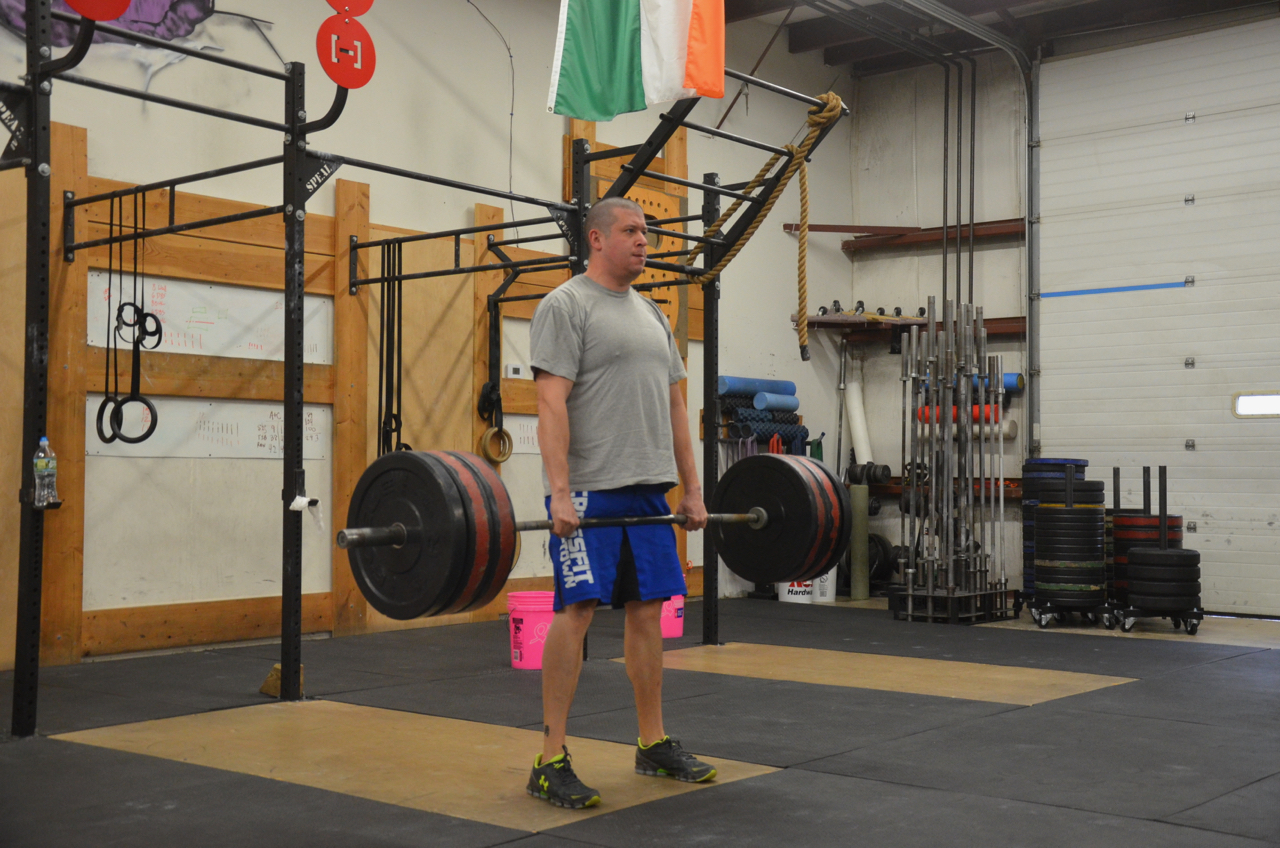 Chris showing a solid lockout on his deadlifts.