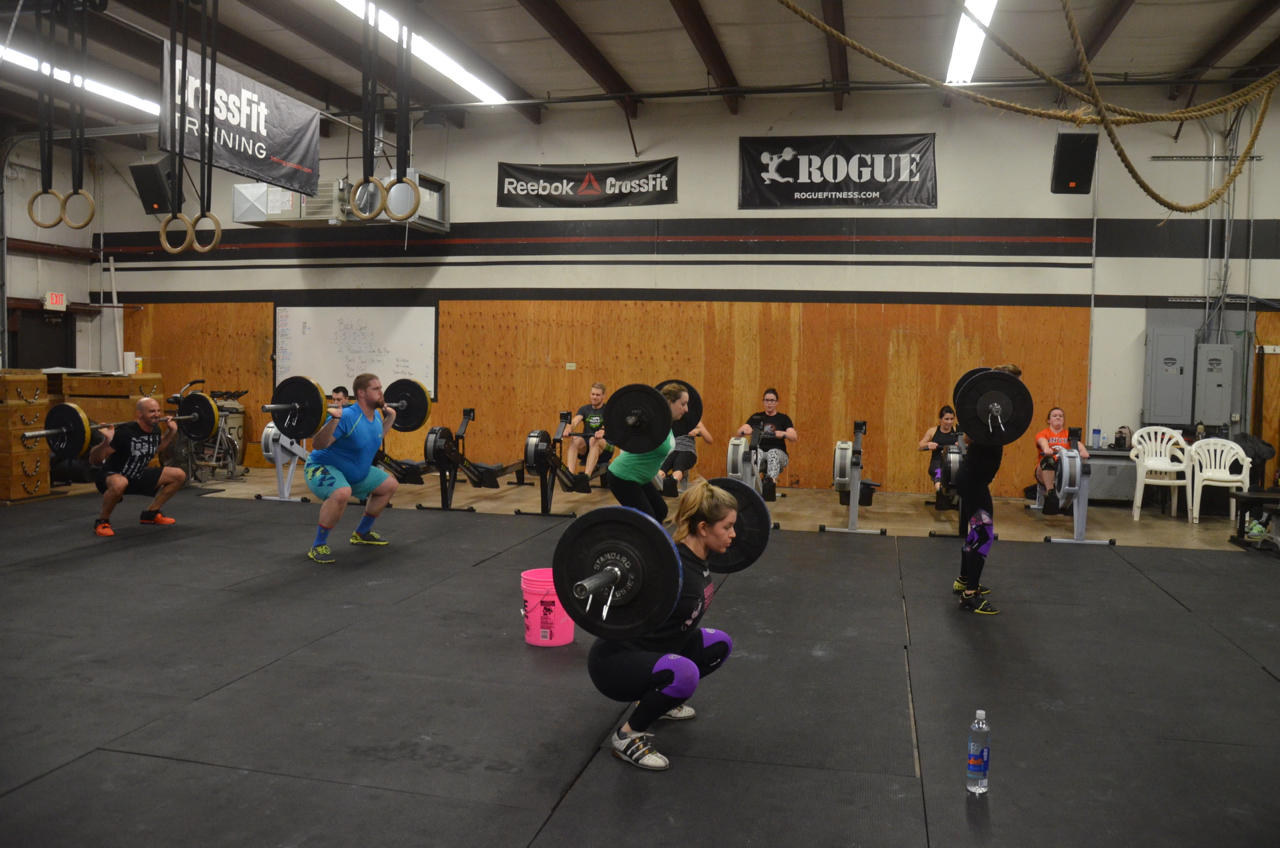 The Maeve and the 4pm during their 2 minutes of back squats.