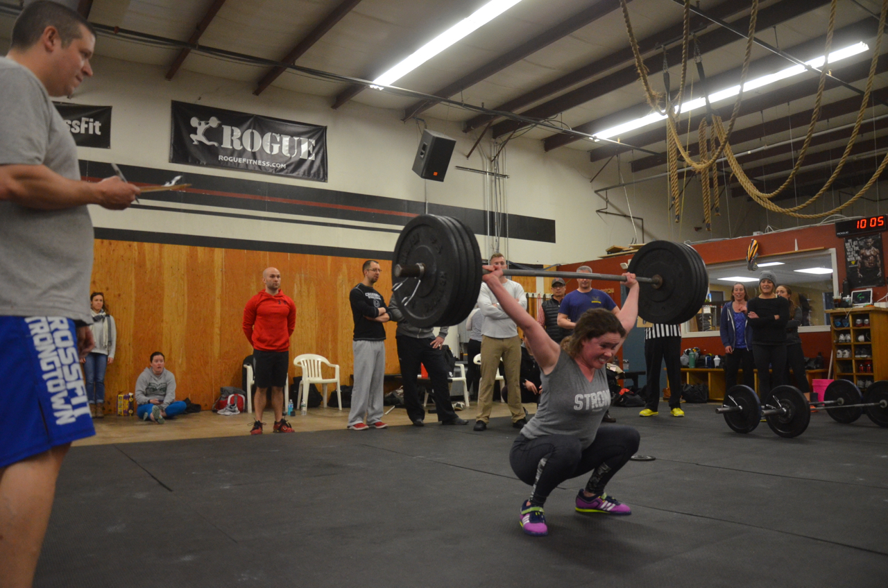 Aisling fighting through her final reps while taking 17.3 for round 2.
