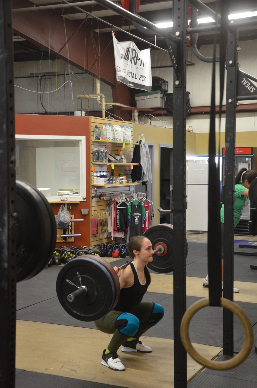 Justina looking strong on her squats!