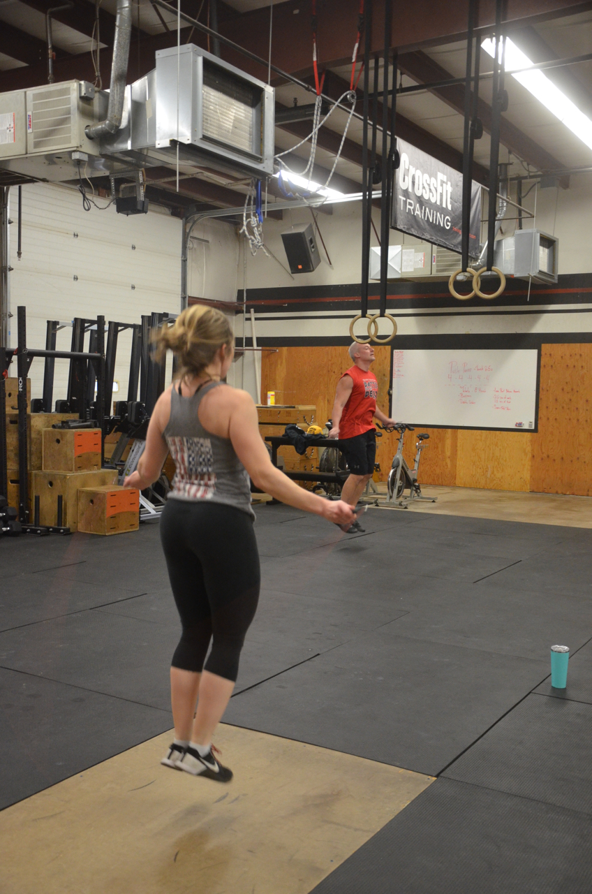 Sophia and Paul flying through their double unders.