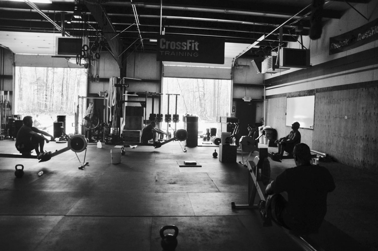 The 4pm class starting their 7 Minute AMRAP.