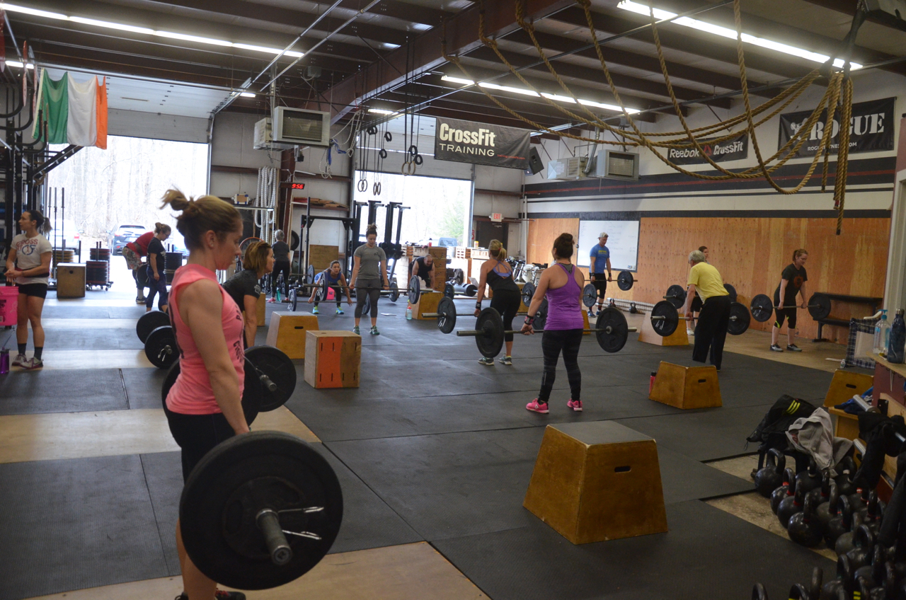 Sophia and the 9:30 class starting their 50 deadlifts.