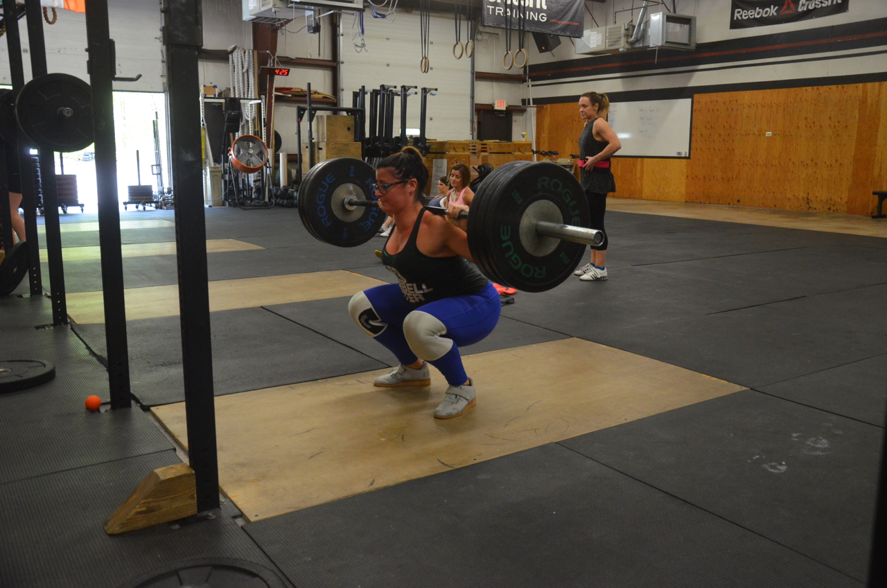 Rachie moving some impressive weight on her squats.