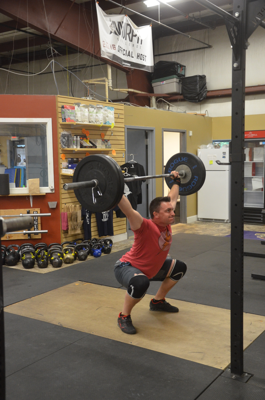 Brian looking solid at the bottom of his overhead squat.