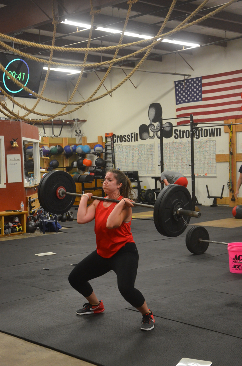 Jess looking strong on her power cleans.