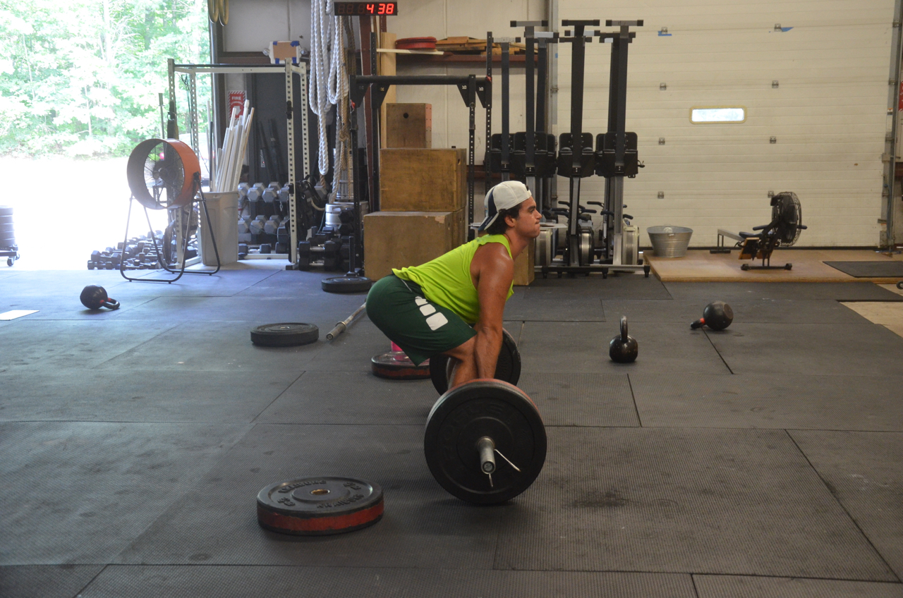 Lex showing a great setup on his deadlifts.