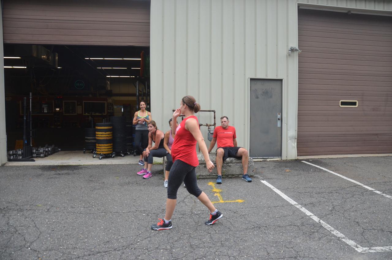 Gail +1 finishing her 400m run.