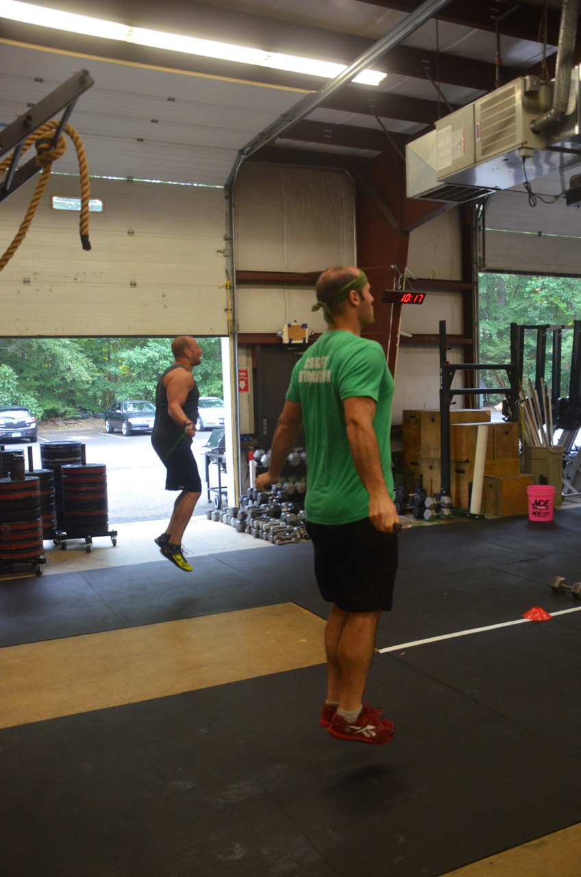 Jim and Rob B. flying through the double unders.