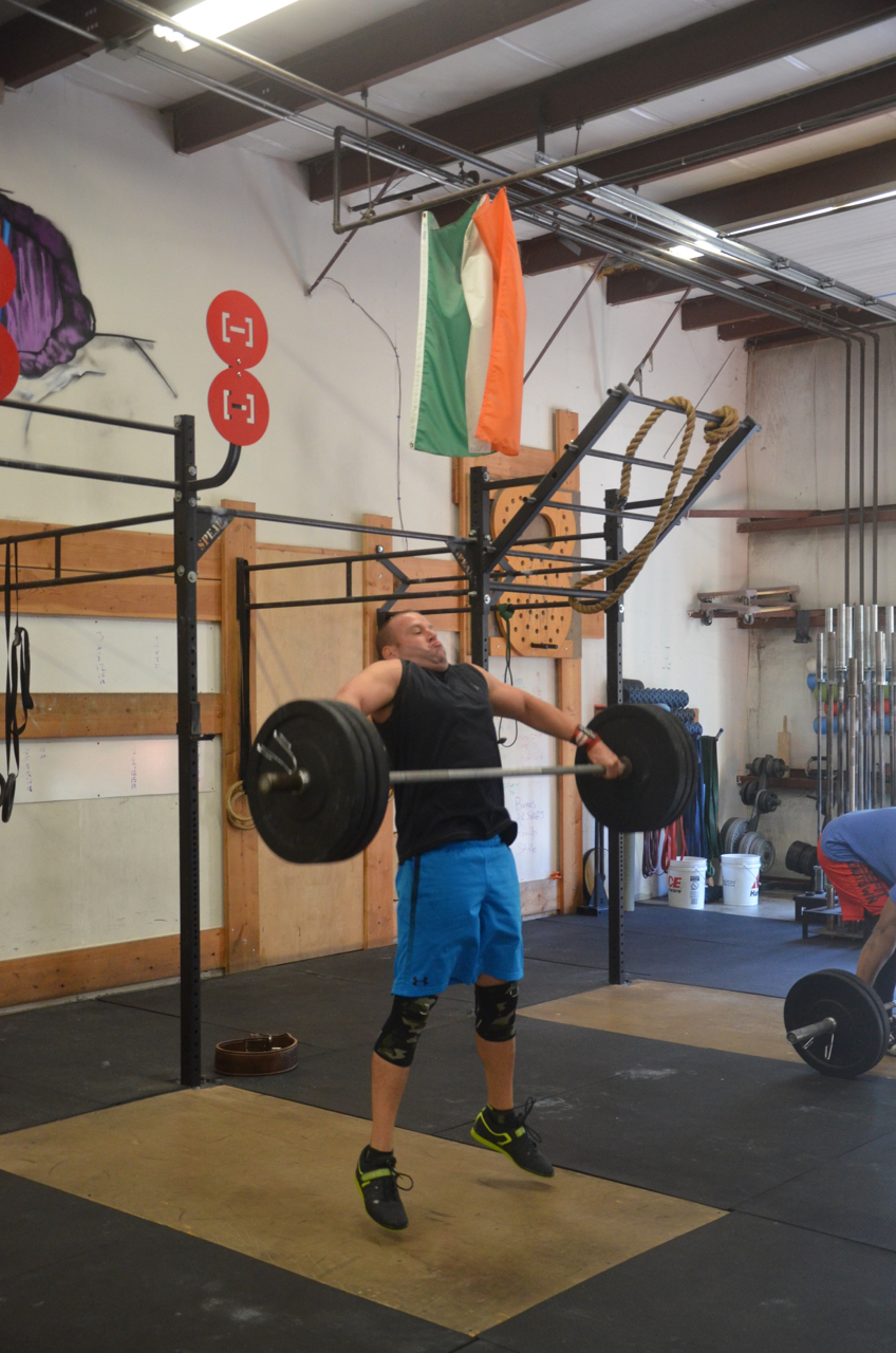 Rob showing great extension in his snatch pull.