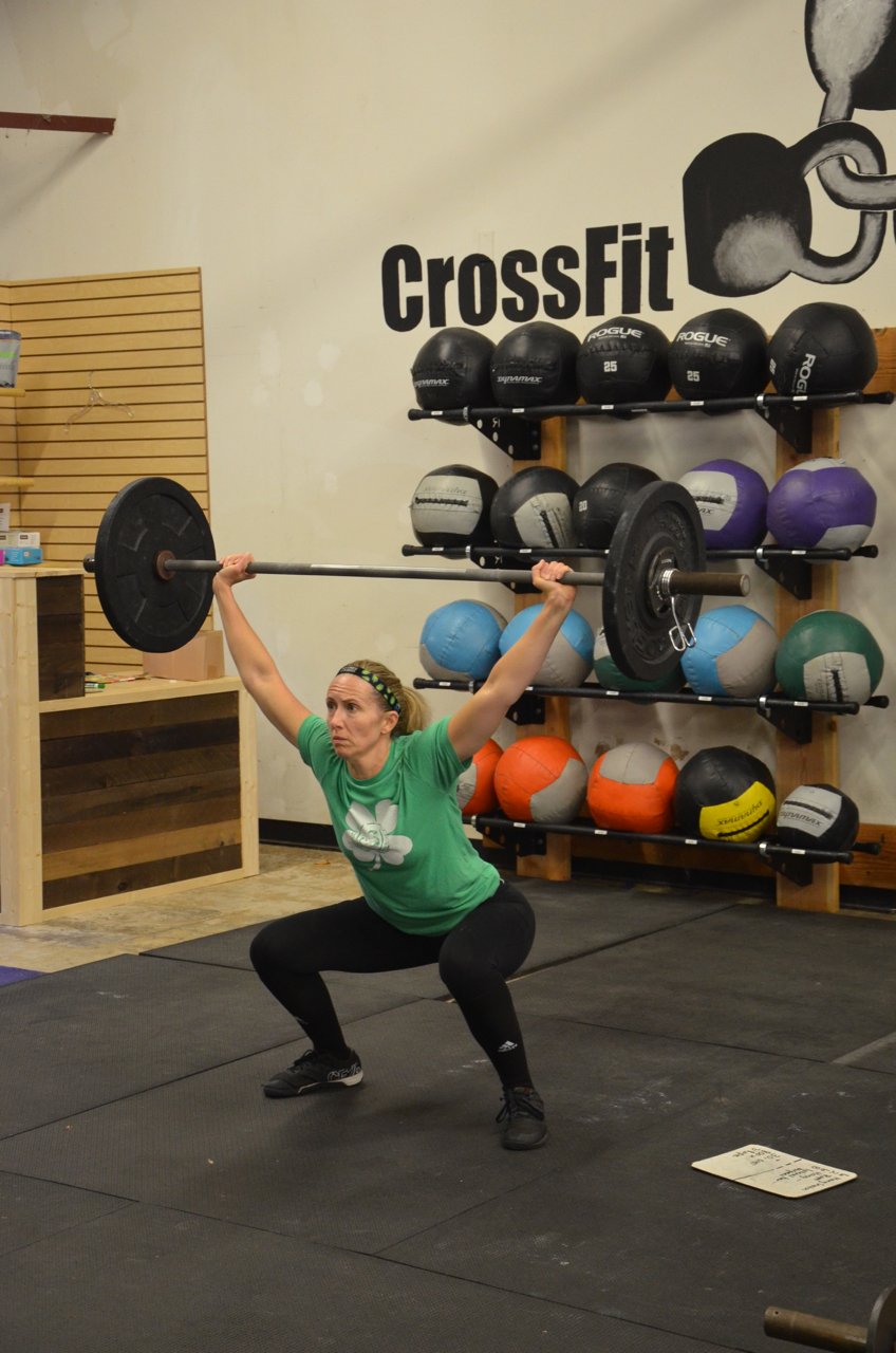 Karen working through her overhead squats on Friday.