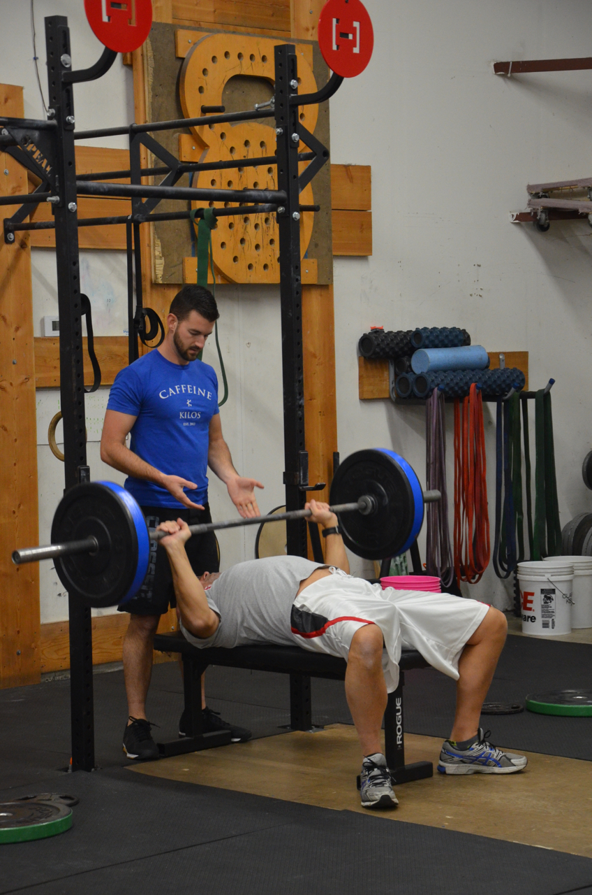 Father and son bench session. Welcome Bob to Strongtown!