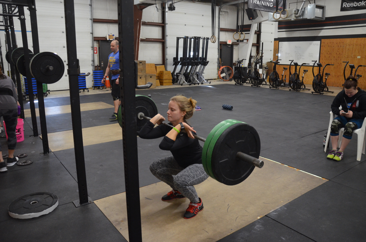 Lu working up to a 1 rep max Front Squat.