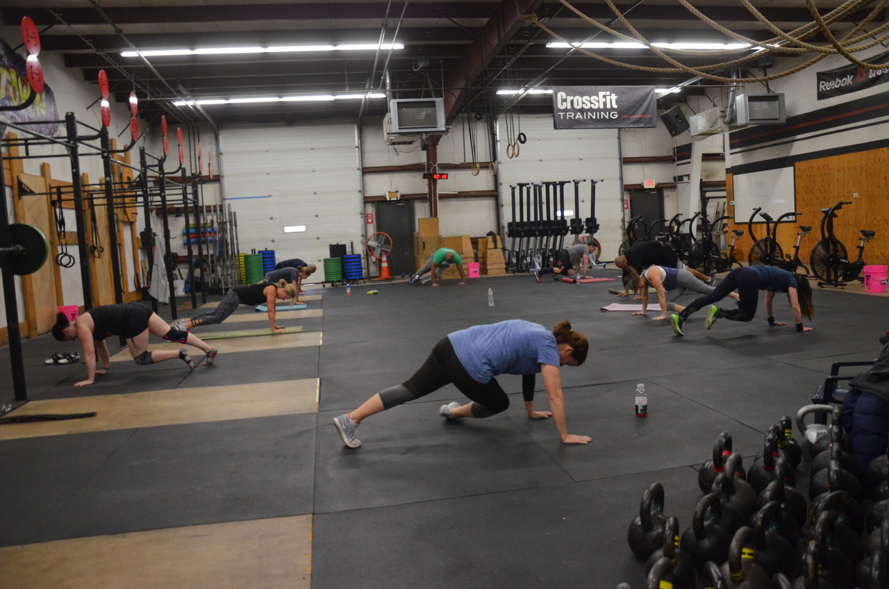 The Friday 9:30am class during the core burner metcon.