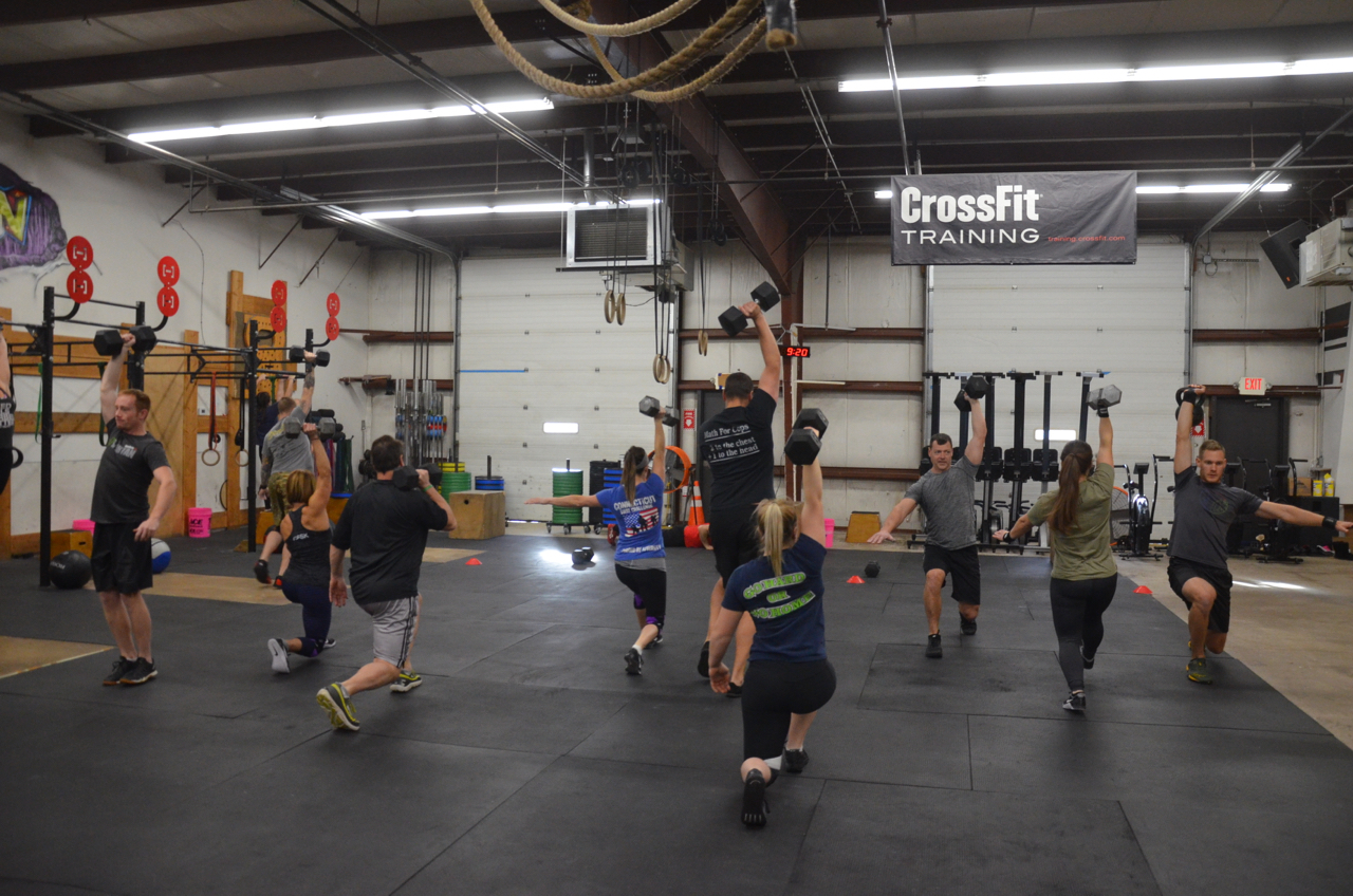 Packed house for Saturday's 9am class.