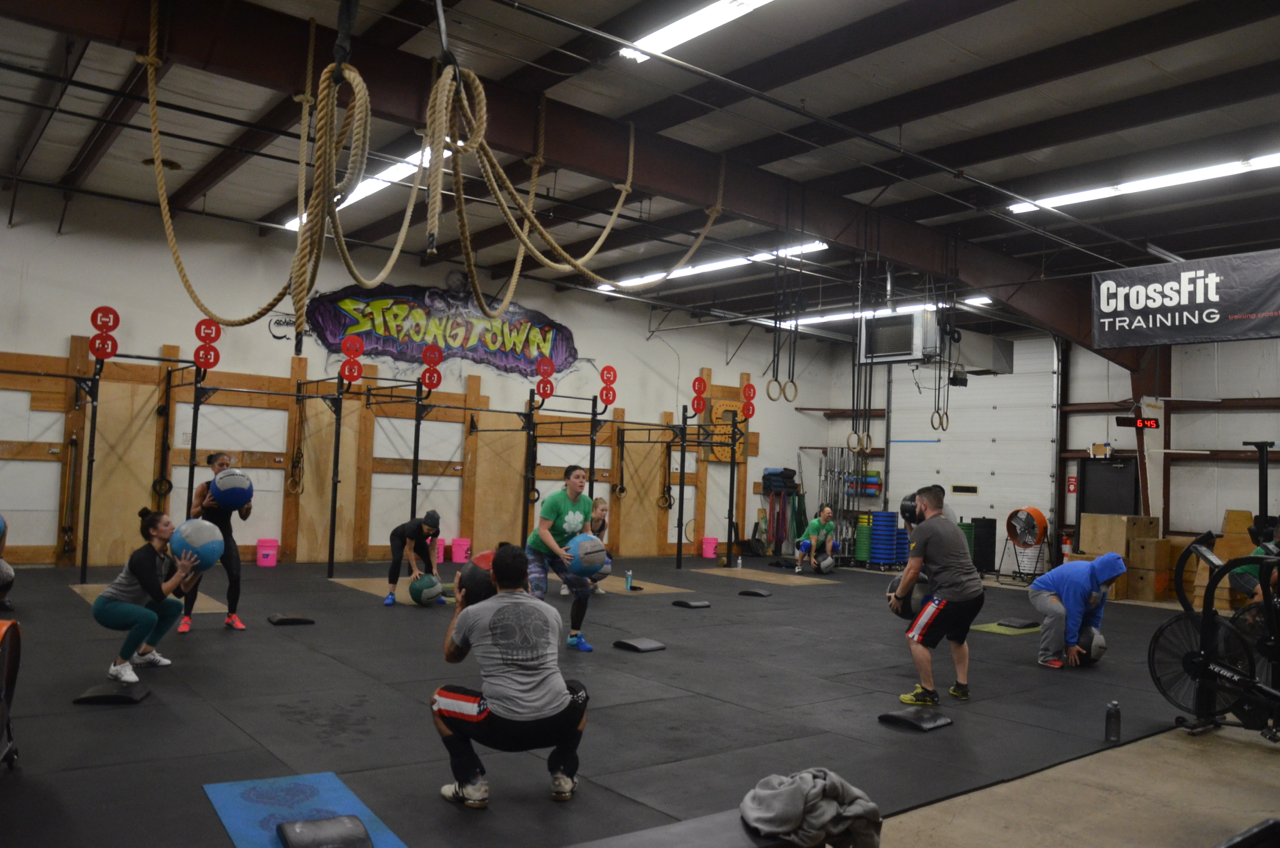 The 6am class at the start of their 21-15-9.