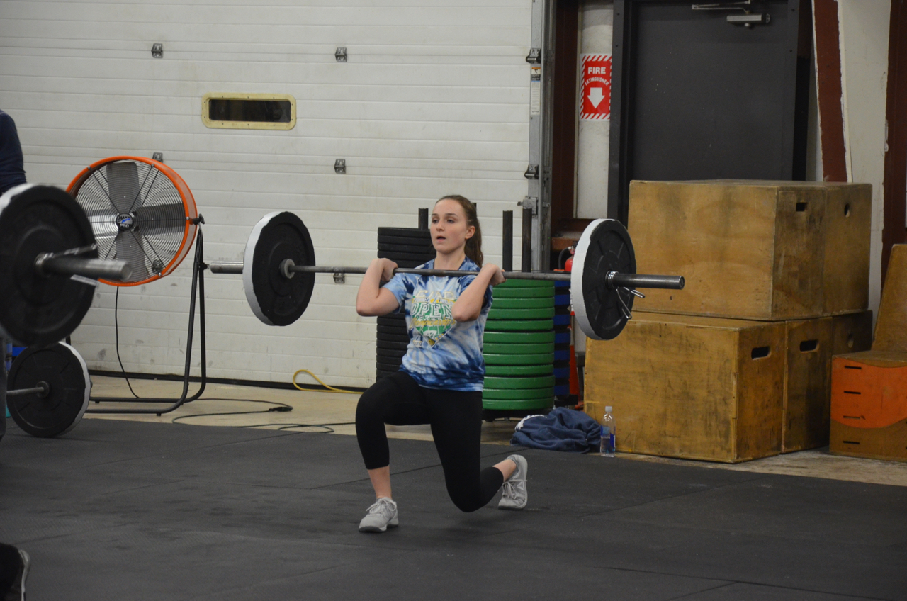 Aileen during Friday's metcon.