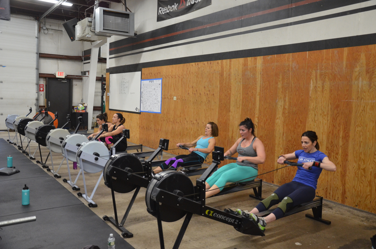 The ladies during the 30 cal row.