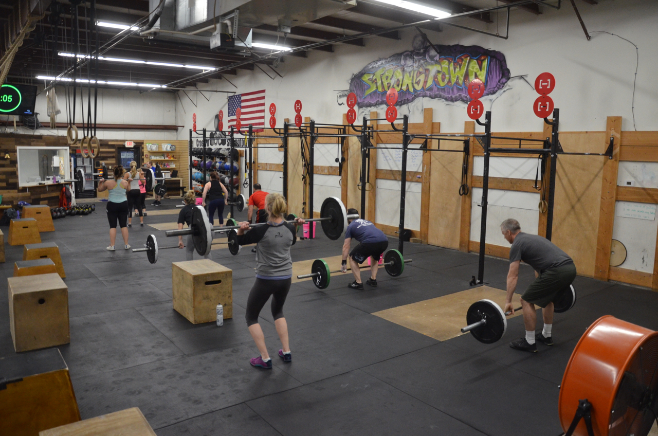 The 5pm class at the start of today's workout.