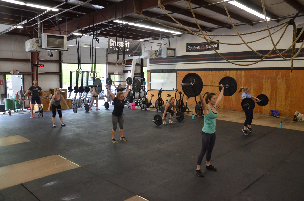 The Friday 4pm class at the start of the workout.