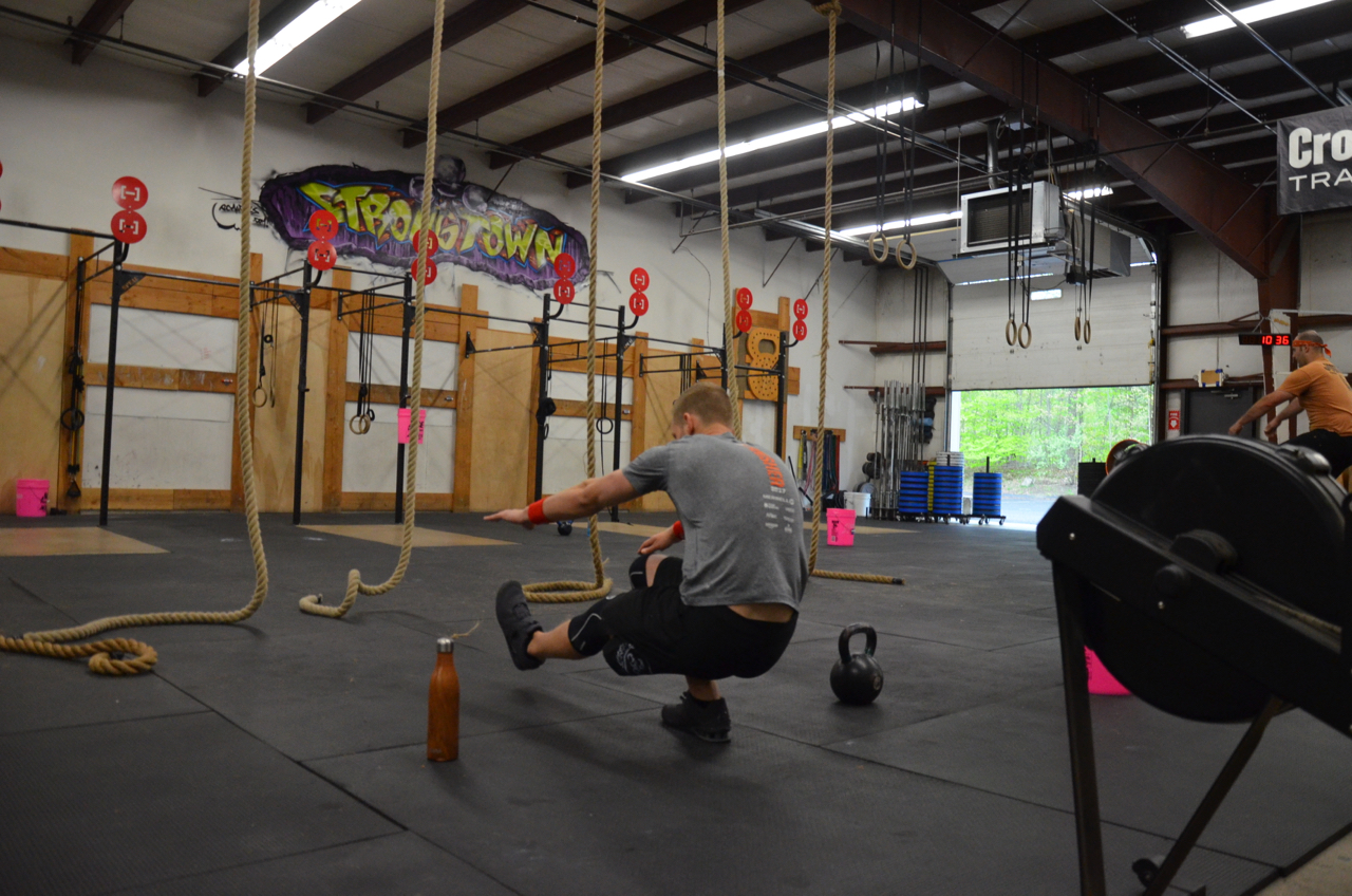 Tanner showing great balance during his pistol squats.