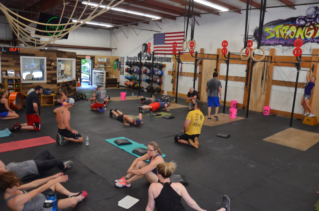 Packed house for Sunday's Father's Day workout.