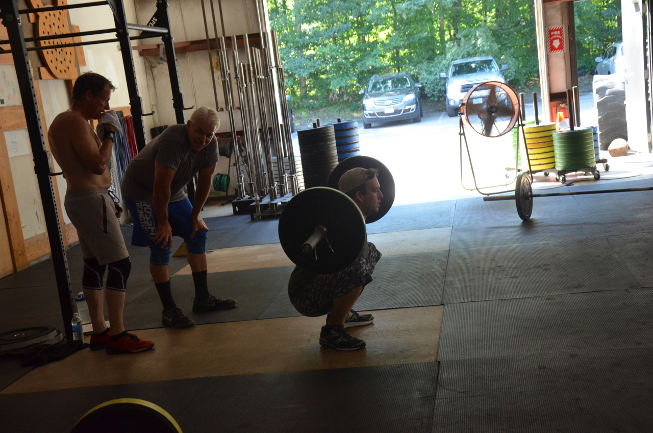 Donnie getting deep on his back squats.