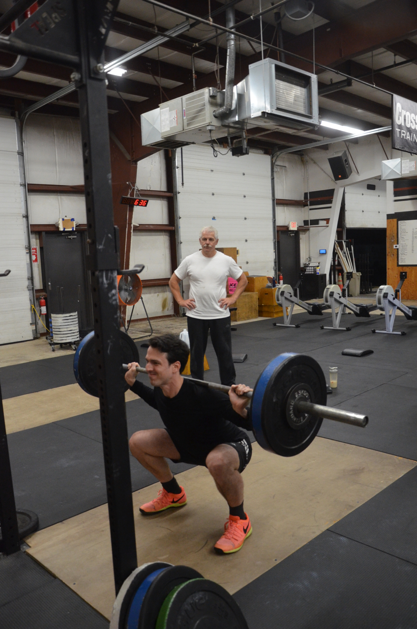 Angel working through his 1 rep max back squat.