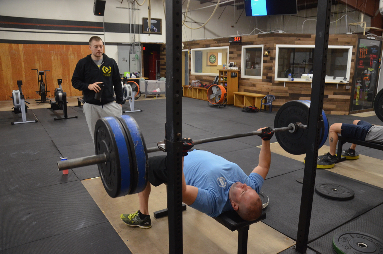 Rob never misses a Bench Press day.