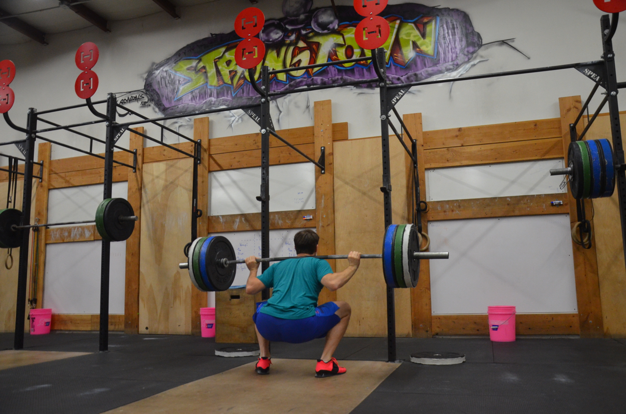 Rich showing great Depth on his Back Squats.
