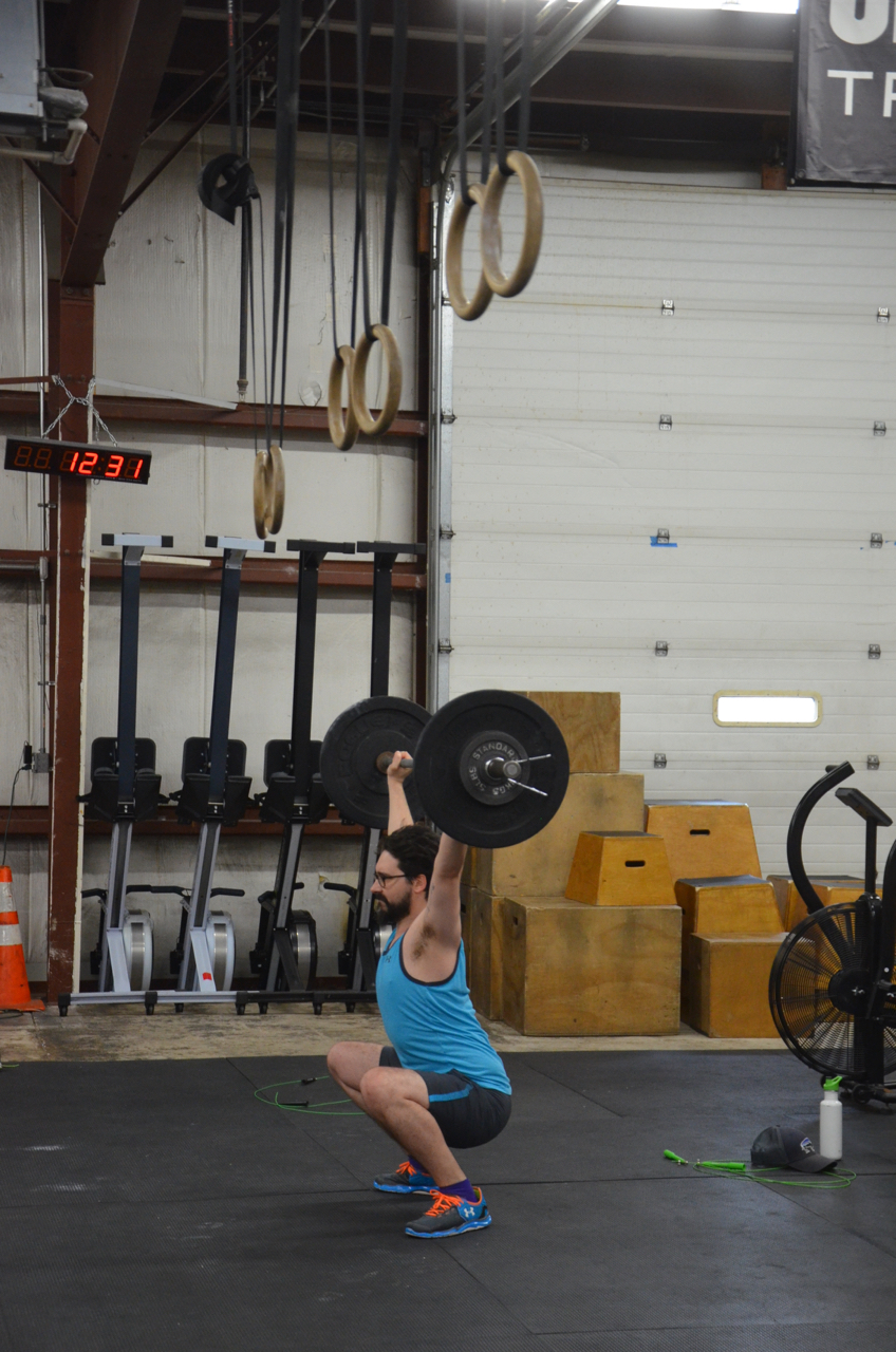 Mike showing great depth on his Hang Squat Snatch.