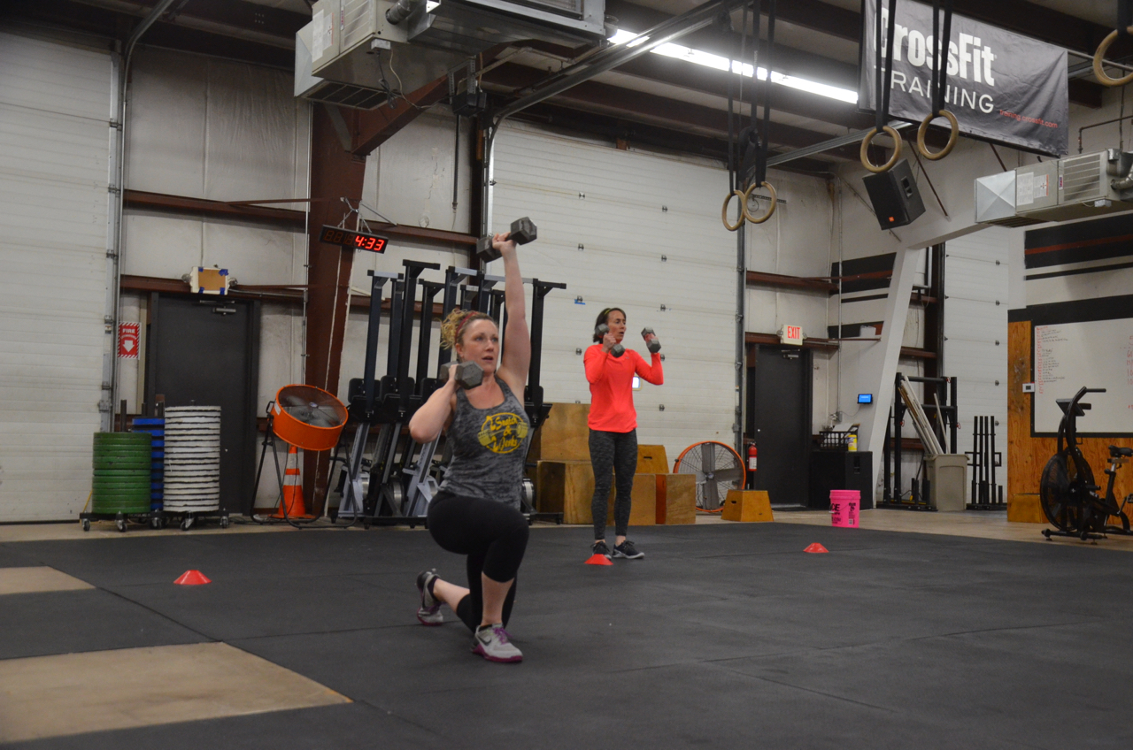 Stacy looking strong on her lunges!