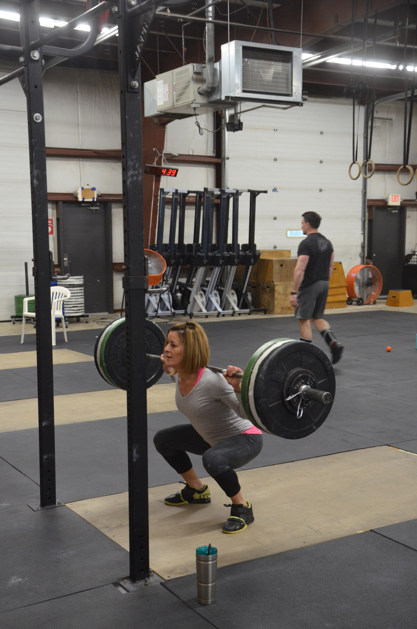 Ang…staying strong through her squats.