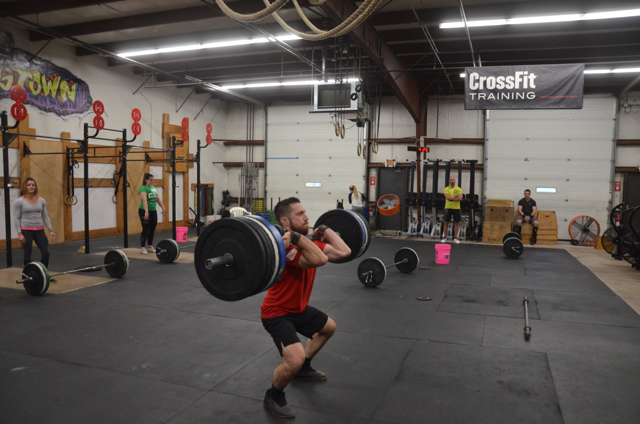 Jason showing a great receiving position on his power clean.