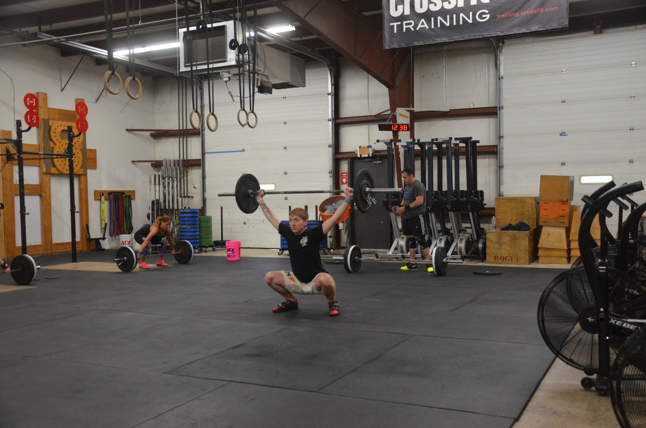 Pat showing a great receiving position on his snatch.