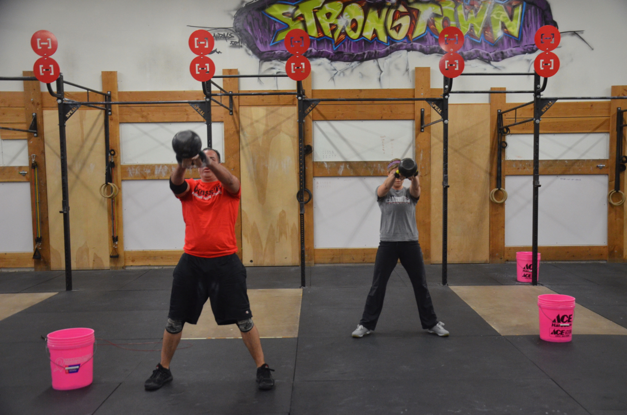 Couples that Kettlebell swing together, stay together.