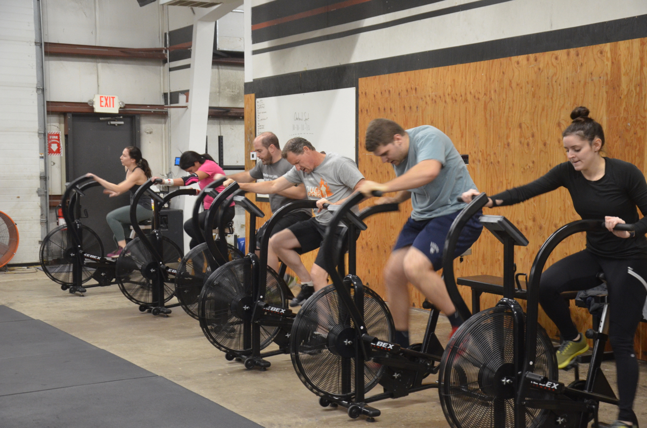 The 6pm class at the start of today's metcon.