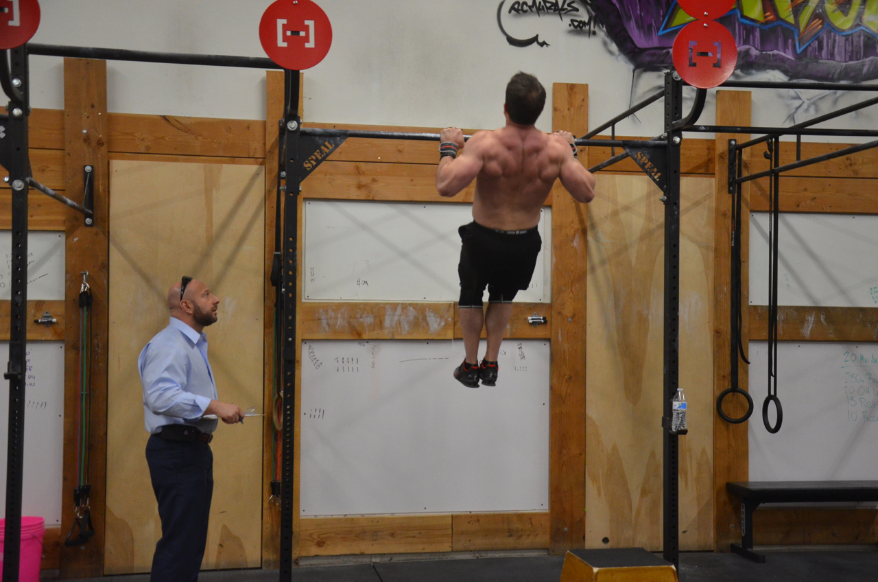 Brian looking strong on his pull-ups.