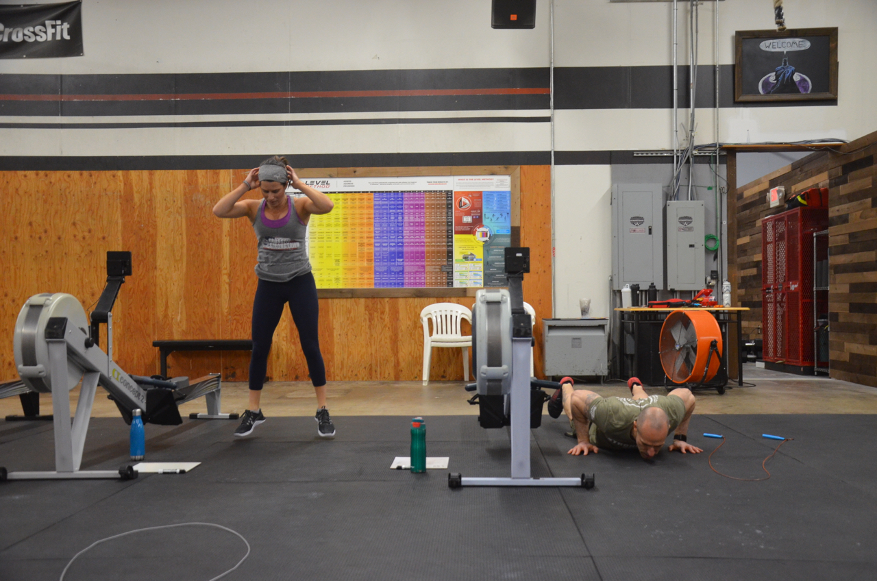 Jen and Lou love burpees.
